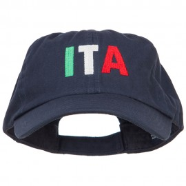 Italy ITA Flag Embroidered Low Profile Cap