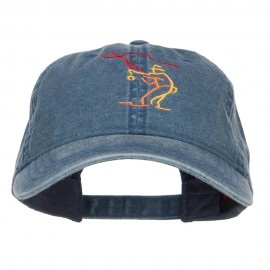 Fly Fishing Man Embroidered Washed Cap