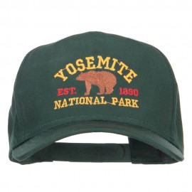 Yosemite National Park Gold Embroidered Cap - Dark Green