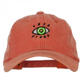 Green Eye Embroidered Unstructured Cotton Cap