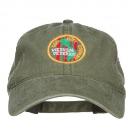 Veteran God Duty Country Embroidered Cap - Olive Green