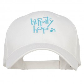 Easter Hippity Hop Embroidered Cotton Cap