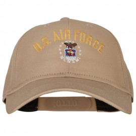 US Air Force Logo Embroidered Solid Cotton Pro Style Cap