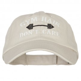 Gym Hair Don't Care Embroidered Low Profile Cotton Cap