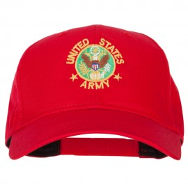 US Army Circle Symbol Embroidered Solid Cotton Pro Style Cap