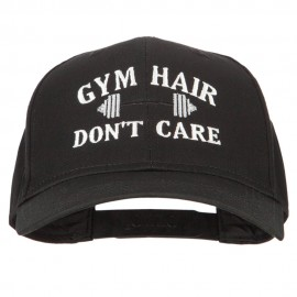 Gym Hair Don't Care Embroidered Solid Cotton Pro Cap