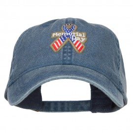 Memorial Day USA Ribbon Patched Cap - Navy
