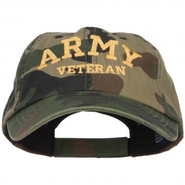 Army Veteran Letters Embroidered Camo Cap
