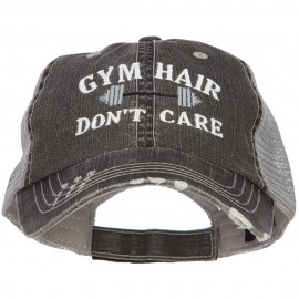 Gym Hair Don't Care Embroidered Cotton Mesh Cap