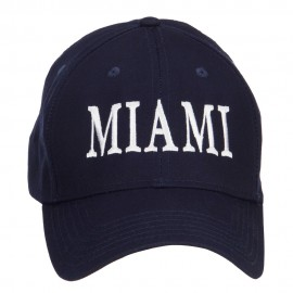 City of Miami Embroidered Cotton Cap - Navy