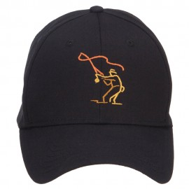 Fly Fishing Man Embroidered Cotton Twill Cap