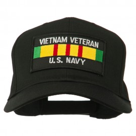 US Navy Vietnam Veteran Patched Cap - Black