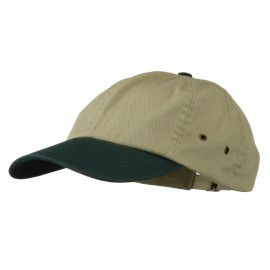 Youth Normal Dyed Washed Cap - Khaki Dark Green