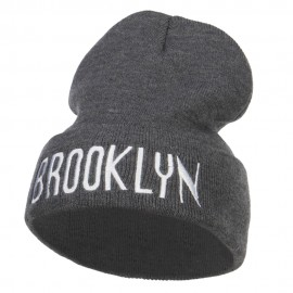 Brooklyn Embroidered Long Beanie