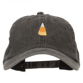 Candy Corn Embroidered Unstructured Cotton Cap