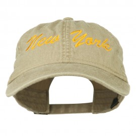 New York State Embroidered Washed Cap