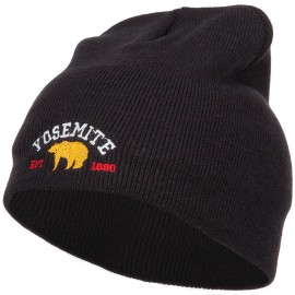 Yosemite National Park Embroidered Short Beanie