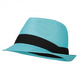 Youth Paper Straw Pinch Top Fedora Hat