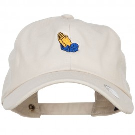 Mini Praying Hands Embroidered Unstructured Cap