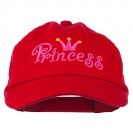 Youth Princess Embroidered Washed Chino Twill Cap