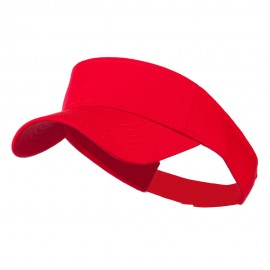 Youth Cotton Sun Visor - Red