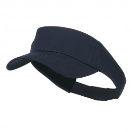 Youth Cotton Sun Visor - Navy