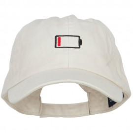 Low Battery Symbol Embroidered Cotton Cap