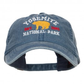 Yosemite National Park Embroidered Washed Cap - Navy