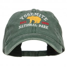 Yosemite National Park Embroidered Washed Cap - Dk Green