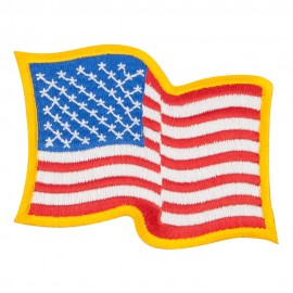 Wavy US American Flag Patches