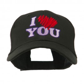 I Love You Logo Embroidered Cap
