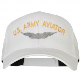 US Army Aviator Embroidered Solid Cotton Pro Style Cap