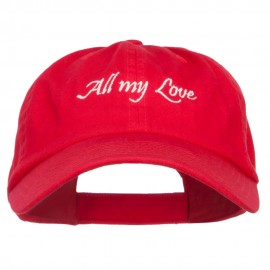 All My Love Embroidered Low Cap