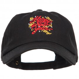 Happy New Year Confetti Embroidered Unstructured Cap