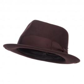 Men's Classic Wool Upbrim Fedora - Brown