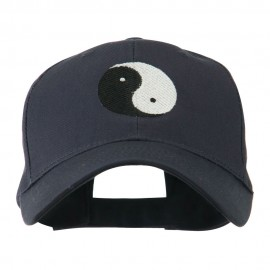 Traditional Chinese Symbol Yin and Yang Embroidered Cap - Navy