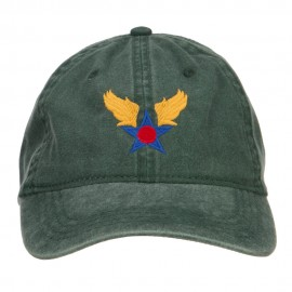 Army Air Corps Embroidered Pigment Dyed Cap - Dk Green