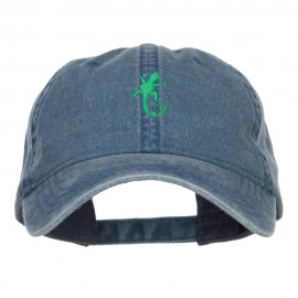 Lizard Embroidered Washed Cap