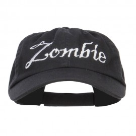 Halloween Zombie Embroidered Low Cap