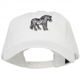 Zebra Wild Animal Patched Washed Cotton Twill Cap