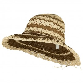 Toyo Braid Zig Zag Striped Hat