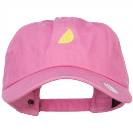 Mini Sliced Lemon Embroidered Unstructed Cap
