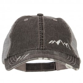 Mountain Embroidered Cotton Mesh Cap