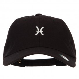 Pisces Zodiac Sign Embroidered Unstructured Cap