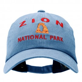 Zion Embroidered Unstructured Pigment Dyed Cotton Cap