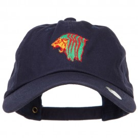Rasta Lion Head Embroidered Unstructured Cap
