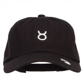 Taurus Zodiac Sign Embroidered Unstructured Cap