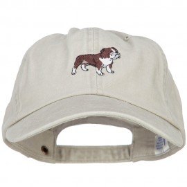 Bulldog Embroidered Washed Cotton Twill Cap