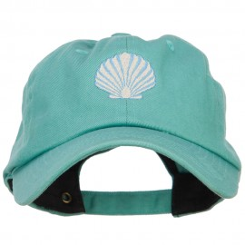 Seashell Embroidered Unconstructed Cap