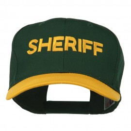 Sheriff Embroidered Cotton Twill Cap